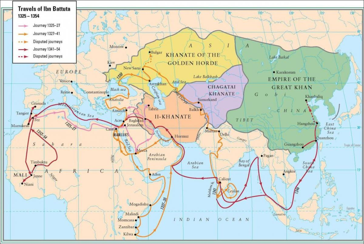 The Travels of Ibn Battuta – Virtual Travel Map