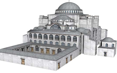 computer reconstruction of Hagia Sofia