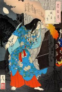 Image of Yamato Takeru from 19th century woodblock print