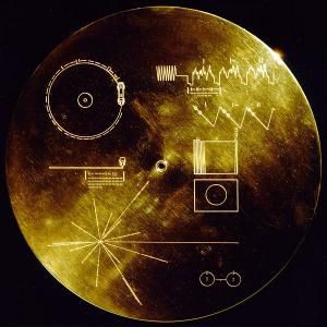 Cover of the Golden Record from Voyager spacecraft