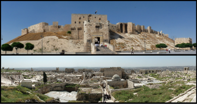 Two views of the Aleppo Citadel