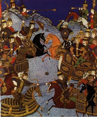Image of Mongol battle