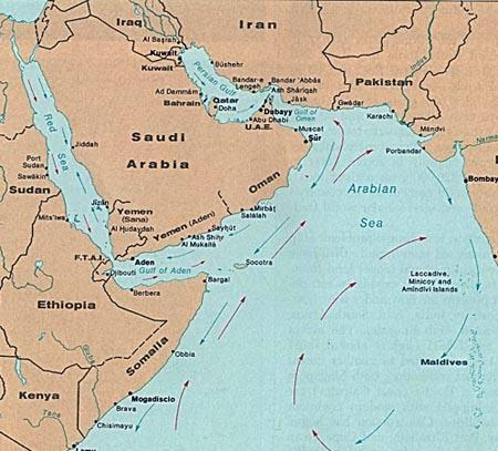 Africa Map Red Sea.The Red Sea To East Africa And The Arabian Sea 1328 1330 Orias