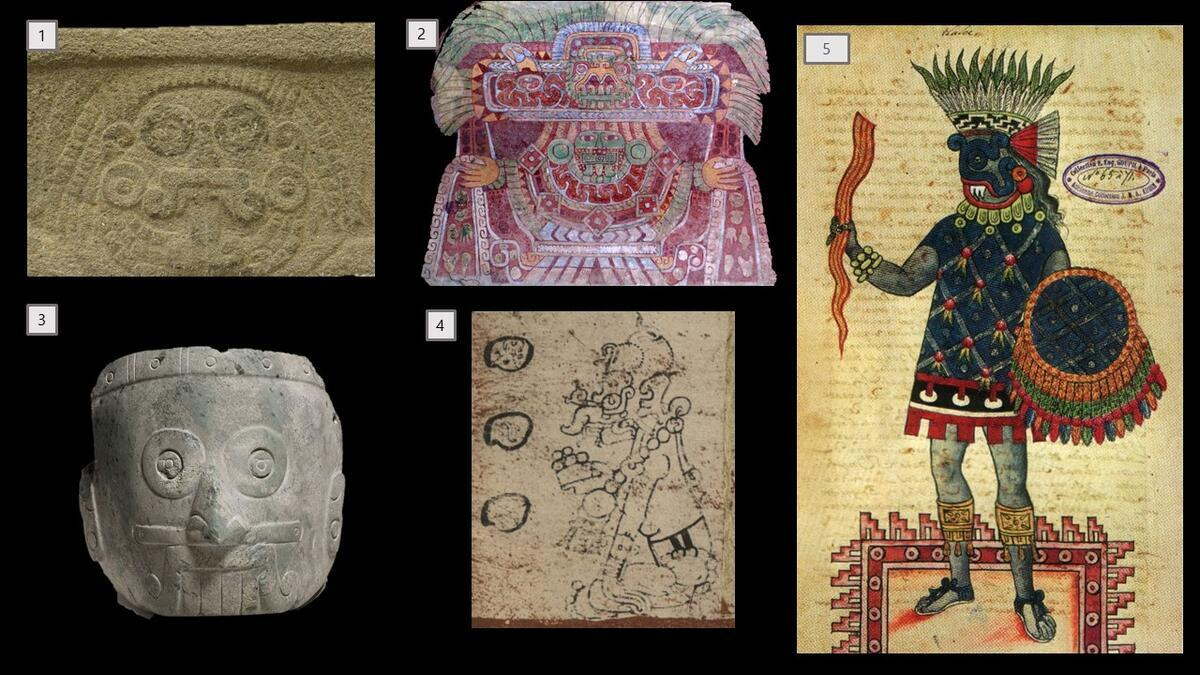 Rain deities in bas-relief, sculpture, painting, and drawing.