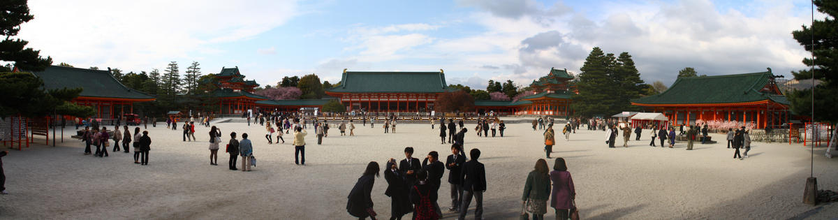 Heian Shrine in Kyoto, Japan