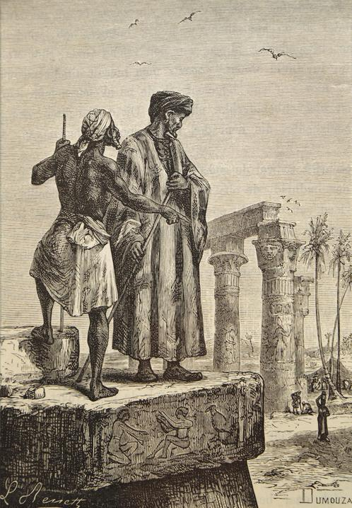 ibn Battuta in Egypt, by Hippolyte, Leon