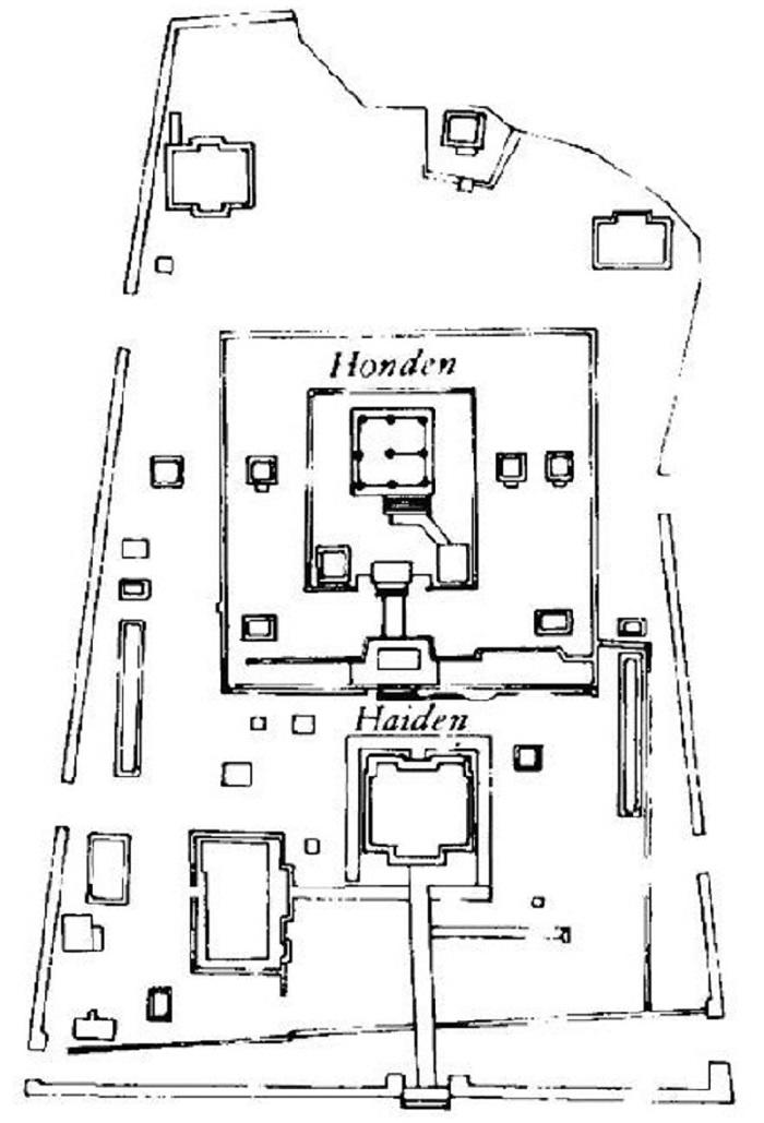 Bird's-eye plan of Izumo Shrine Complex