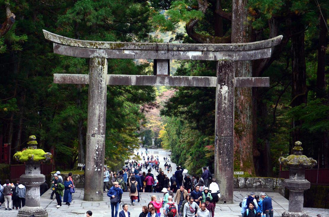 Ishidorii (Stone Gate) at Toshogu Shrine complex