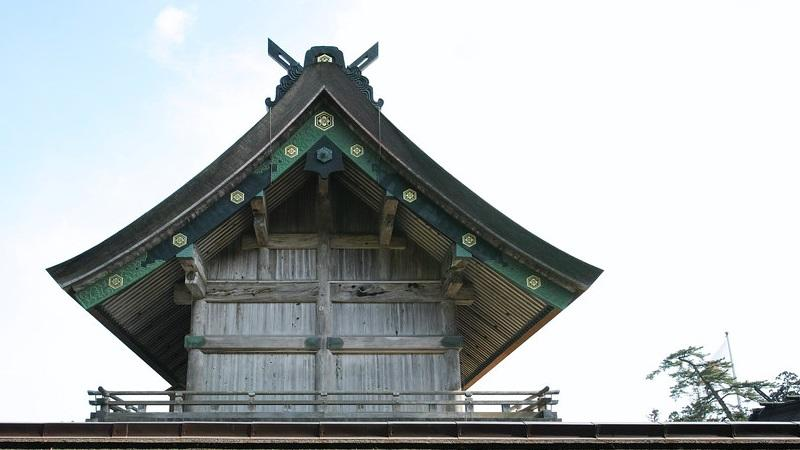 Roof at Izumo shrine in Japan