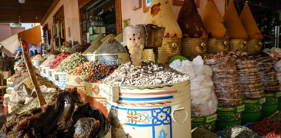 Spice shop in Morocco