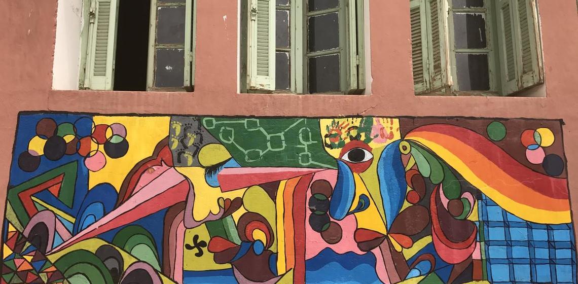 school mural, Morocco