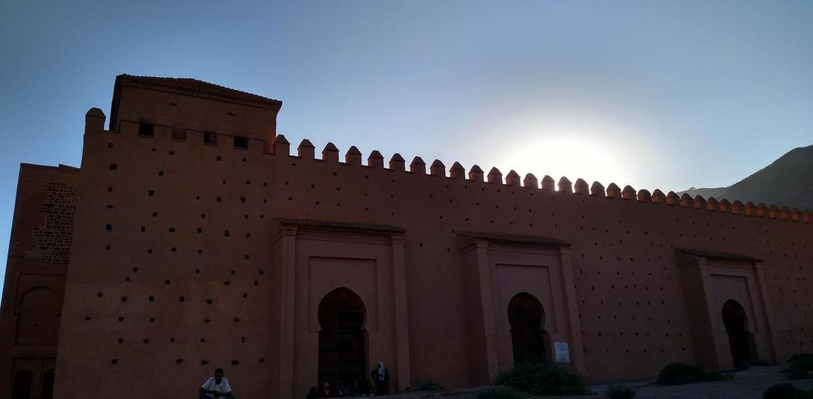 Crenelated roof and arches, Morocco
