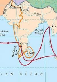 Ibn Battuta Route From India To Sri Lanka And Maldives