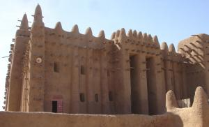 Photograph of mosque at Timbuktu