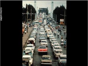 Rush Hour traffic in Thailand; image from Voyager's Golden Record