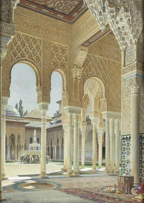 View from inside the Alhambra
